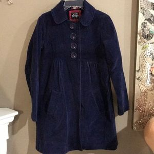 Mini Boden Navy Corduroy Girls Pea Coat